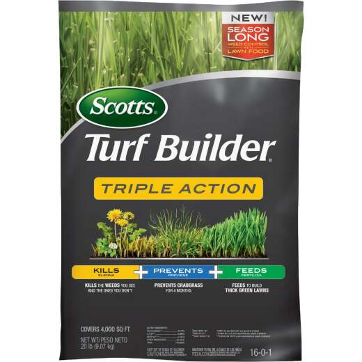 Scotts Turf Builder Triple Action 50 Lb. 10,000 Sq. Ft. Lawn Fertilizer with Weed Killer