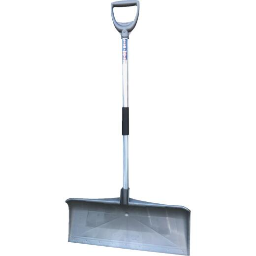 Rugg PathMaster Ultra Lightweight 27 In. Poly Snow Pusher with 36 In. Aluminum Handle