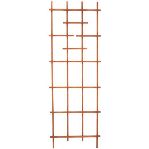Panacea 72 In. Brown Wood Ladder Trellis