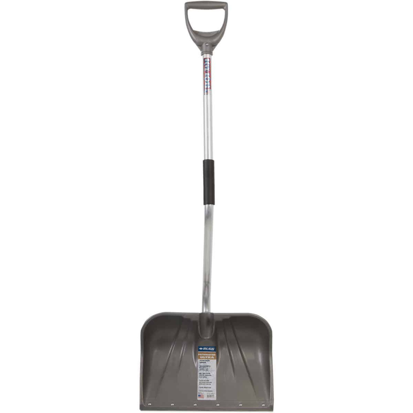 Rugg Back-Saver Lite-Wate 18 In. Poly Snow Shovel with 42.5 In. Aluminum Handle Image 2