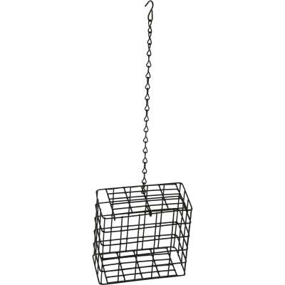 C&S Black 2-Cake Plastic Suet Feeder