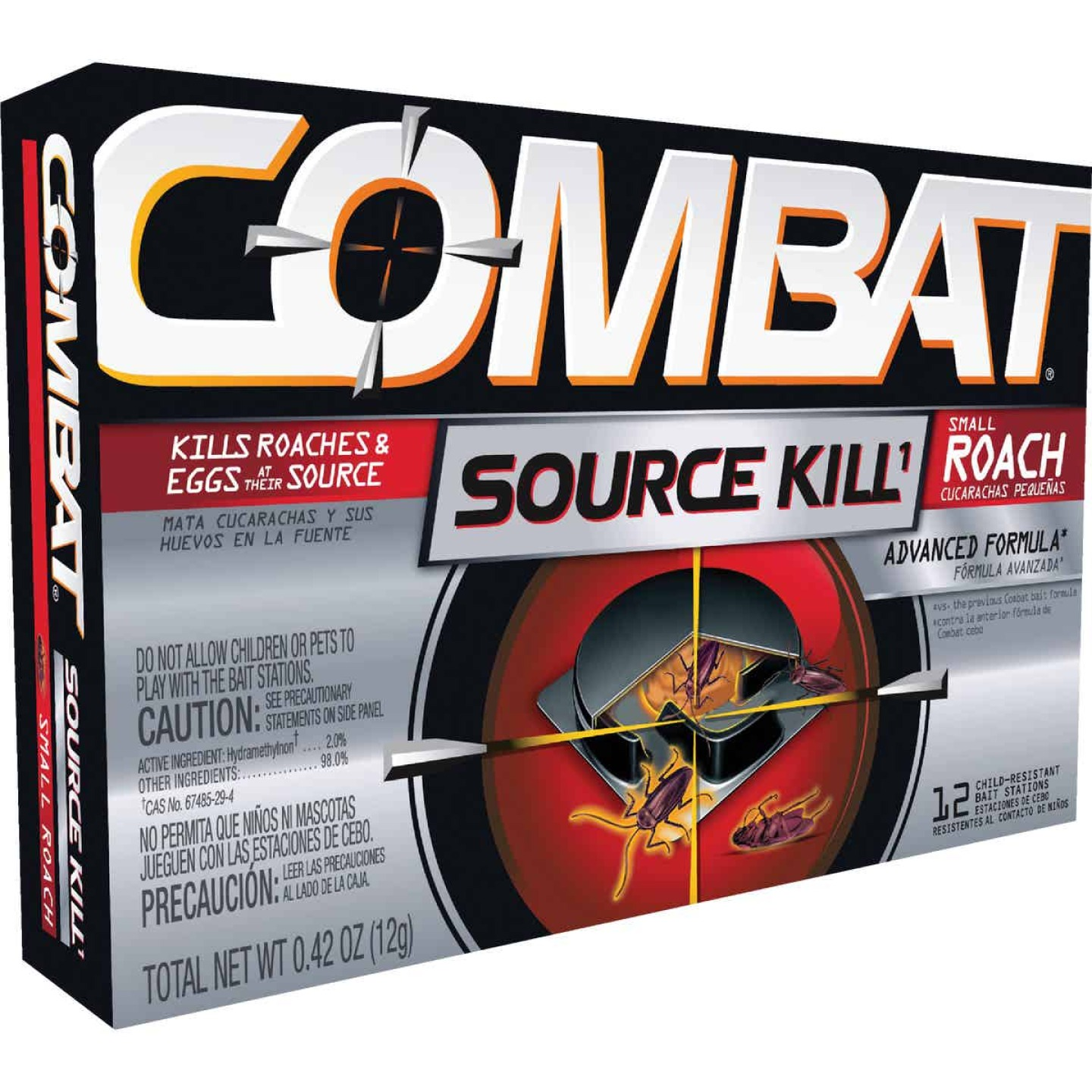 Combat Source Kill 0.42 Oz. Solid Small Roach Bait Station (12-Pack) Image 1