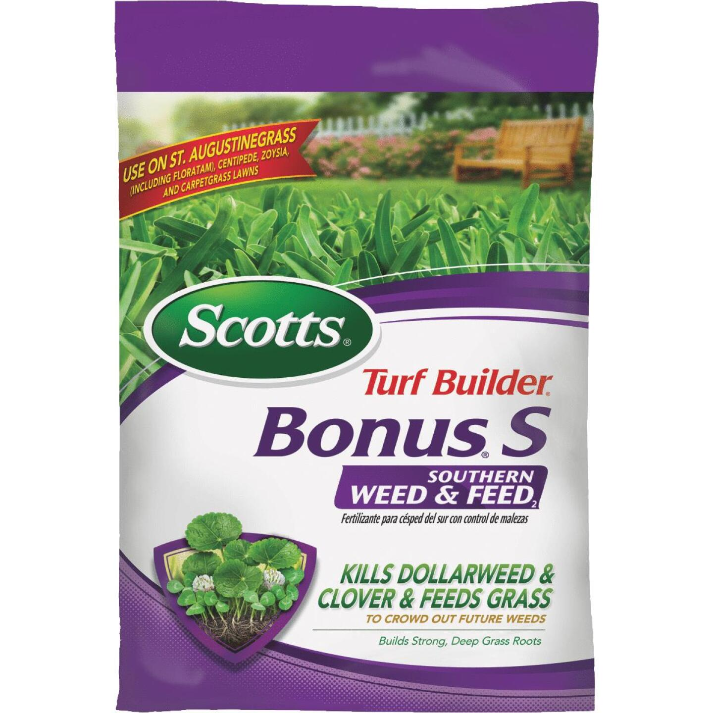 Scotts Turf Builder Bonus S Southern Weed & Feed 18.62 Lb. 5000 Sq. Ft. 29-0-10 Lawn Fertilizer with Weed Killer Image 1