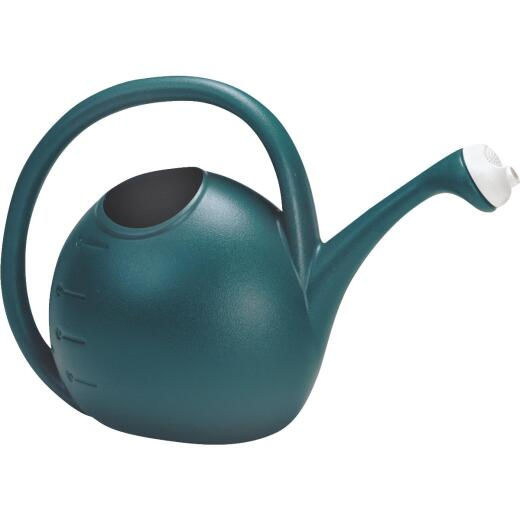 Akro Mills 2 Gal. Greenish Blue Poly Adjustable Flow Watering Can