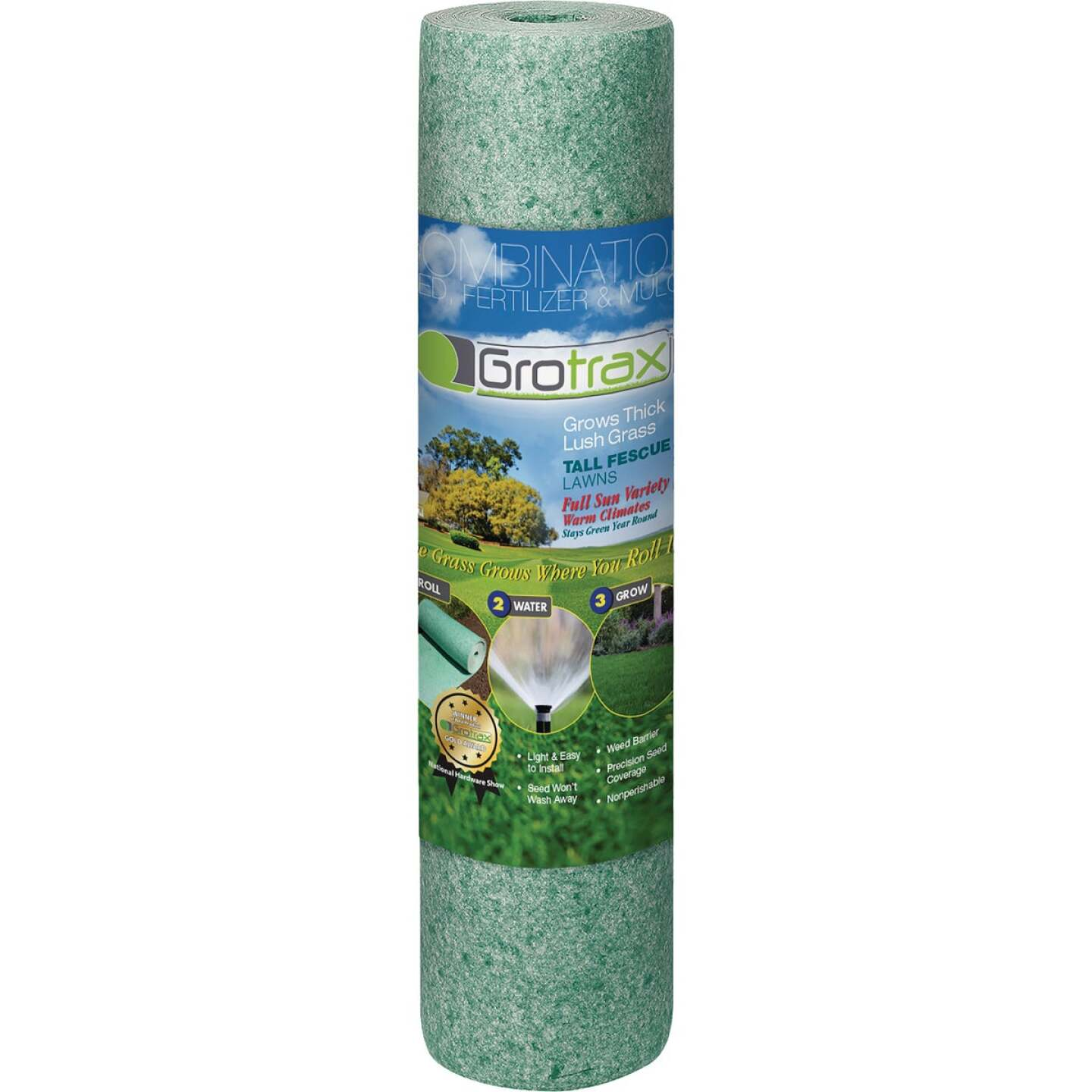 Gro Trax Big Roll 100 Sq. Ft. Coverage Tall Fescue Grass Seed Roll Image 1