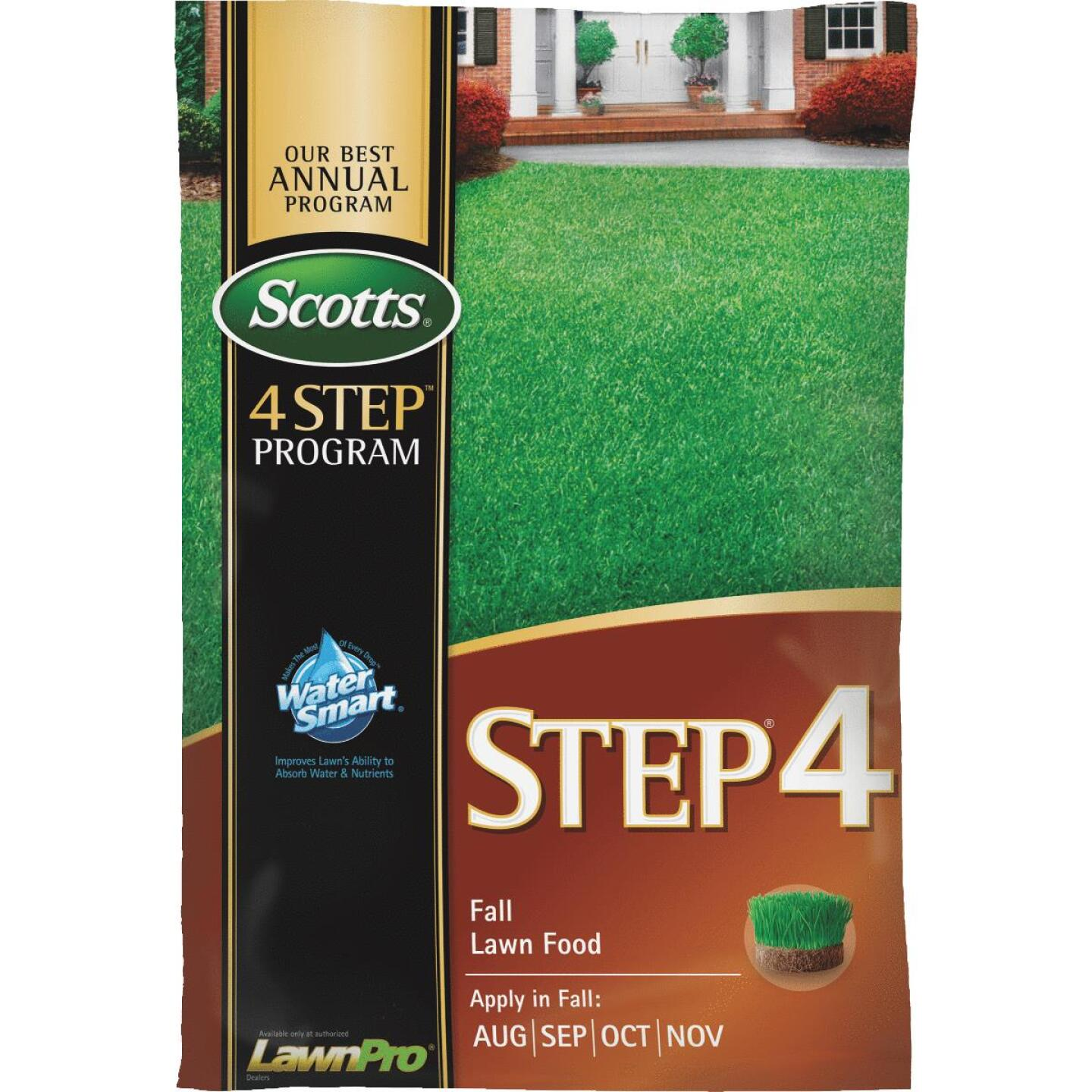 Scotts 4-Step Program Step 4 37.84 Lb. 15,000 Sq. Ft. 32-0-12 Fall Lawn Fertilizer Image 1