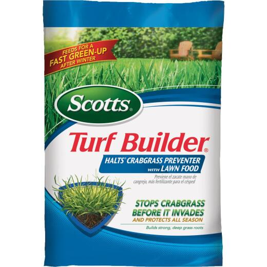 Scotts Turf Builder 13.35 Lb. 5000 Sq. Ft. 30-0-4 Lawn Fertilizer with Halts Crabgrass Preventer