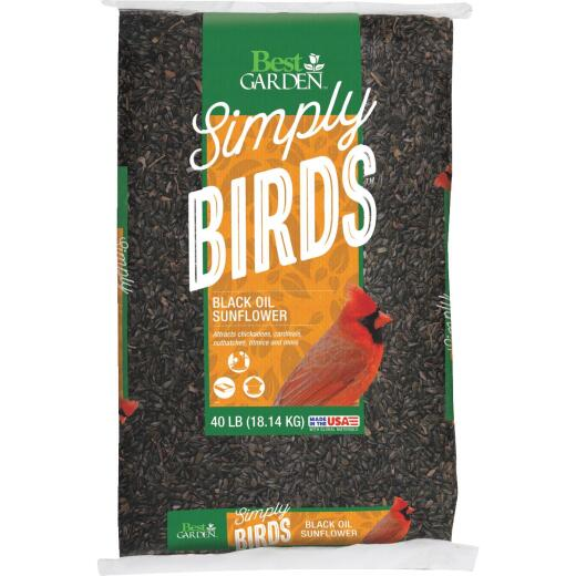 Best Garden 40 Lb. Black Oil Sunflower Wild Bird Seed