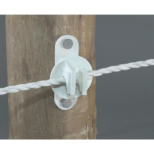 Dare Nail-On White Polyethylene Electric Fence Insulator (25-Pack)