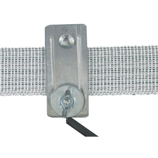 Dare Up to 1-1/2 In. Metal Electric Fence Tape Connector (2-Pack)
