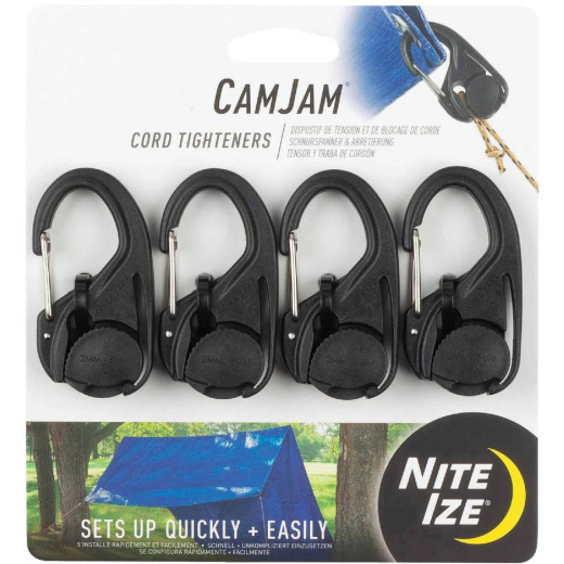Nite Ize CamJam Plastic with Stainless Steel Gate Rope Tightener (4-Pack)
