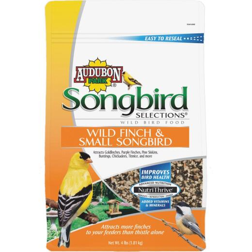 Audubon Park Songbird Selections 4 Lb. Finch & Small Songbird Wild Bird Seed