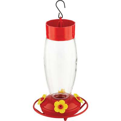 More Birds 30 Oz. Glass Deluxe Hummingbird Feeder