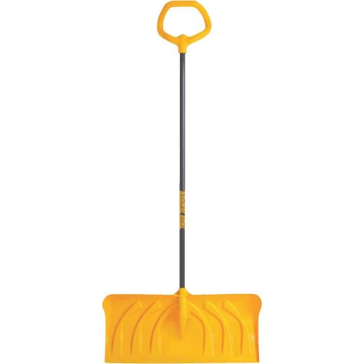 True Temper 24 In. Poly Snow Pusher with 40 In. Steel Handle