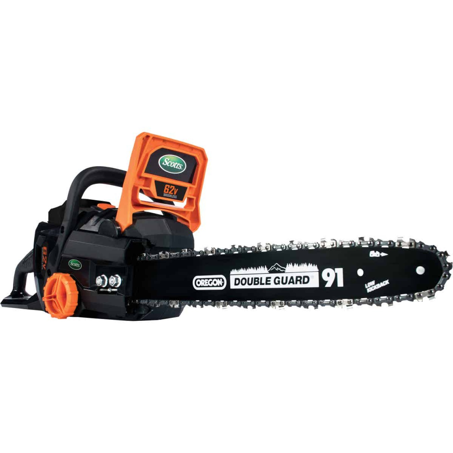 Scotts 16 In. 62 Volt Lithium Ion Cordless Chainsaw Image 1