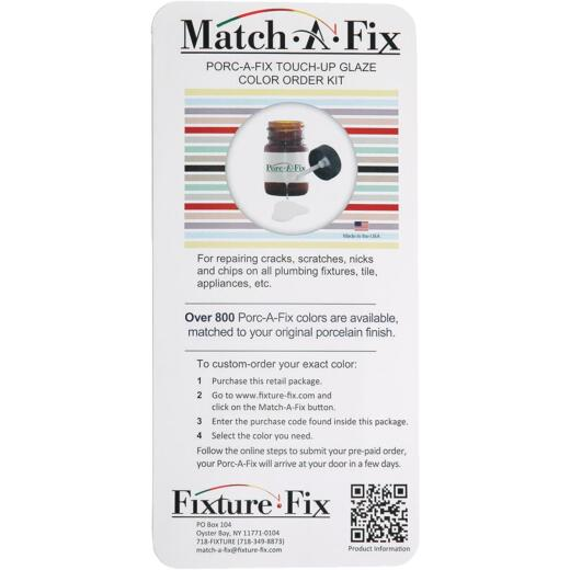 Fixture-Fix Match-A-Fix Porcelain Finish Color Match