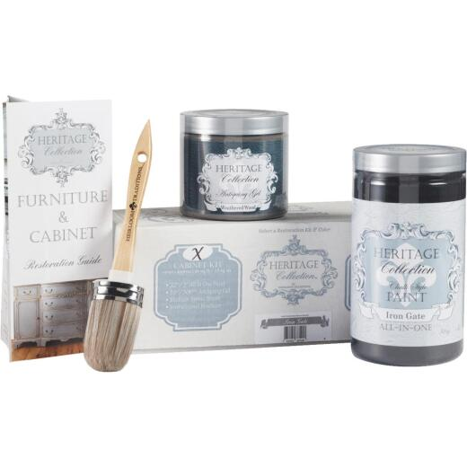 Heirloom Traditions Heritage Collection Chalk Paint Cabinet Restoration Kit, Iron Gate