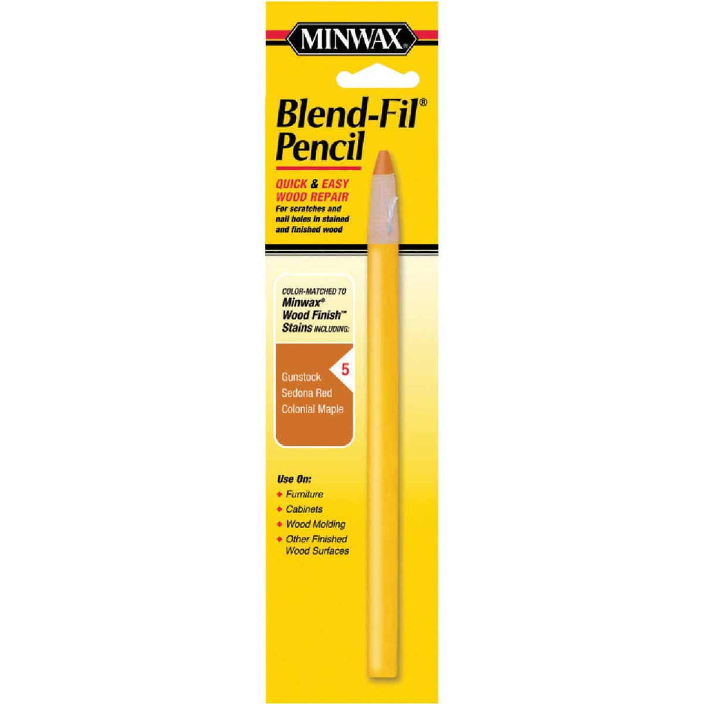 Minwax Blend-Fil Color Group 5 Touch-Up Pencil Image 1
