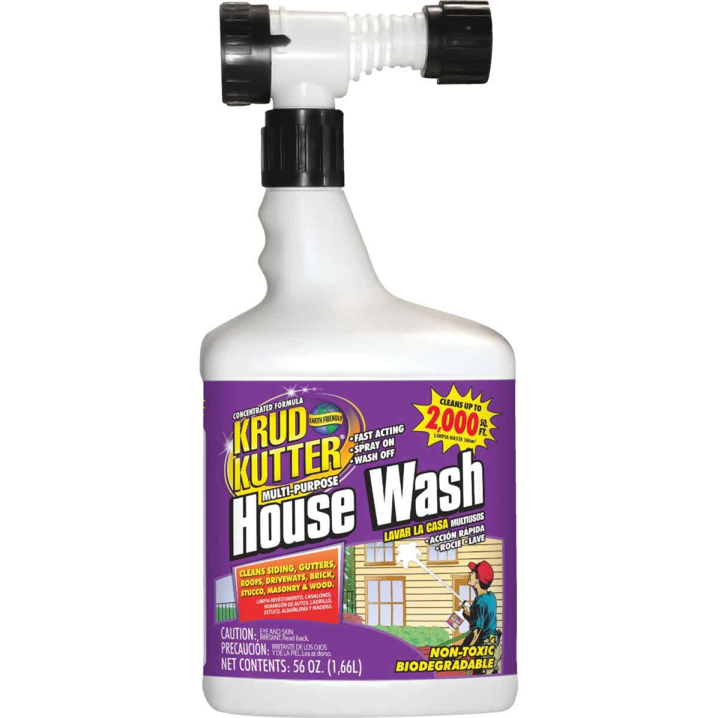 Krud Kutter Multi-Purpose House Wash Hose End Spray Concentrate, 56 Oz. Image 1