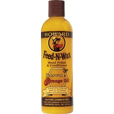 Howard 16 Oz. Feed-N-Wax Wood Polish & Conditioner