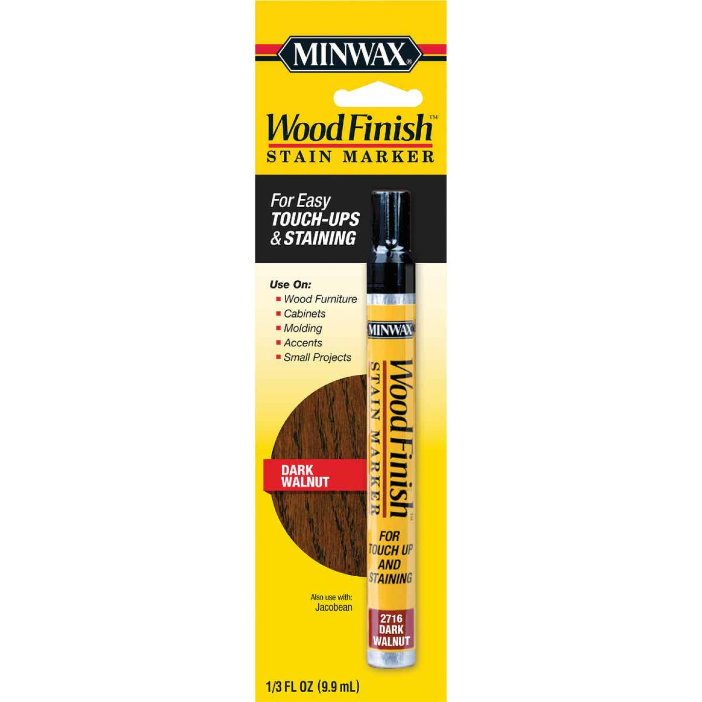 Minwax Wood Finish Dark Walnut Stain Marker Image 1