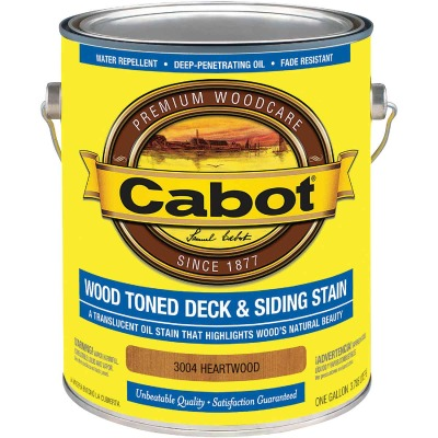 Cabot Alkyd/Oil Base Wood Toned Deck & Siding Stain, Heartwood, 1 Gal.