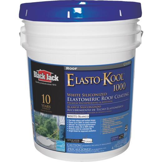 Black Jack Elasto-Kool 1000 5 Gal. 10-Year White Siliconized Elastomeric Coating