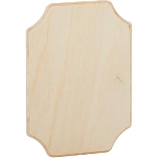 Walnut Hollow 5.25 In. x 7.25 In. French Corner Unfinished Wood Plaque