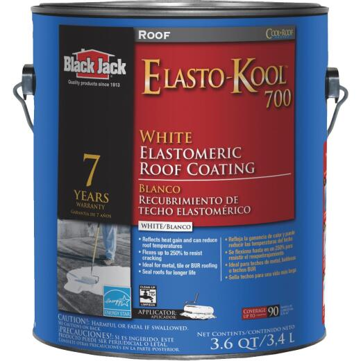 Black Jack Elasto-Kool 700 1 Gal. 7-Year White Siliconized Elastomeric Coating