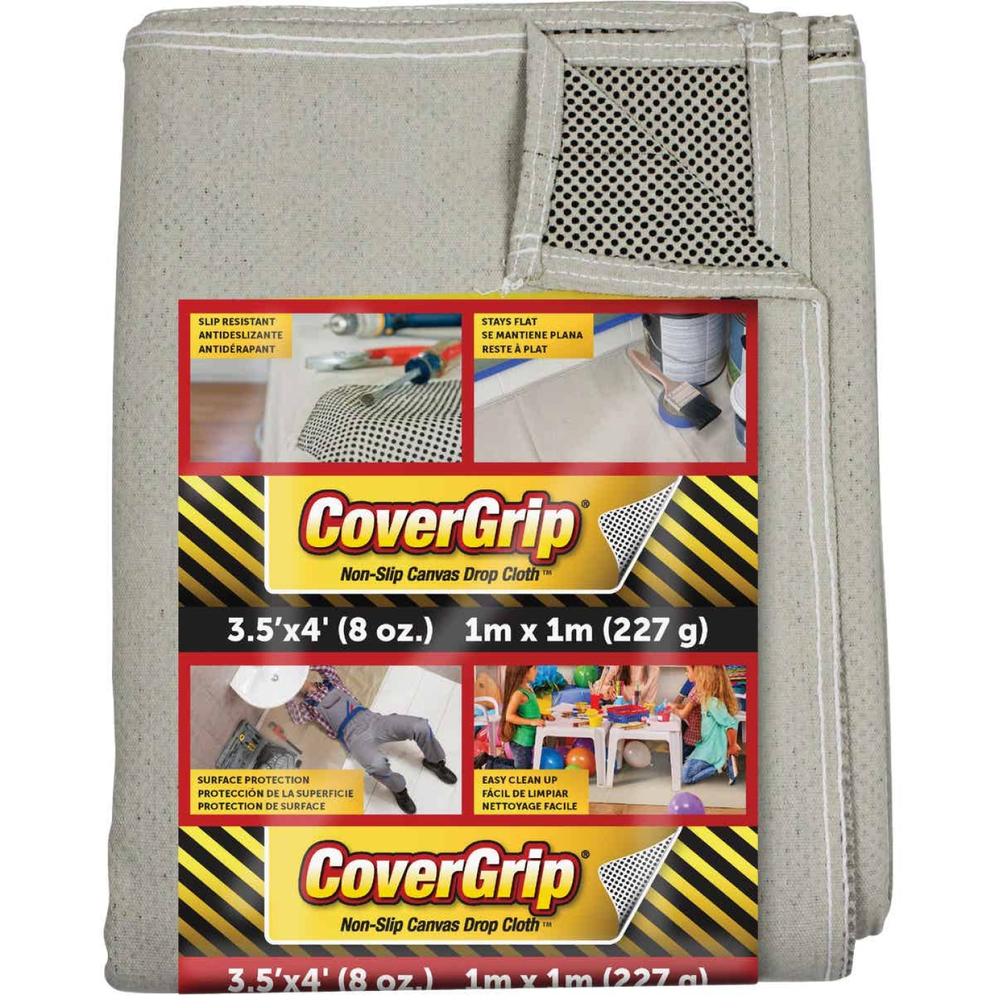 CoverGrip 3.5 Ft. x 4 Ft. 8 Oz. Non-Slip Safety Drop Cloth Image 1