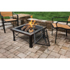 Outdoor Expressions 30 In. Slate Square Steel Fire Pit Image 2
