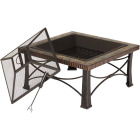 Outdoor Expressions 30 In. Slate Square Steel Fire Pit Image 4