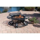 Big Horn 47 In. Camp Black Round Steel Fire Pit Image 2