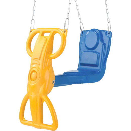 Swing N Slide Wind Rider Blue & Yellow Glider Swing