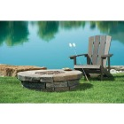 Clearwater 42 In. Faux Stone Round Gas Fire Pit Image 3