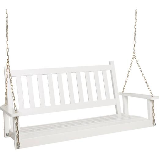 Jack Post Knollwood Porch Swing with Chains, Painted White