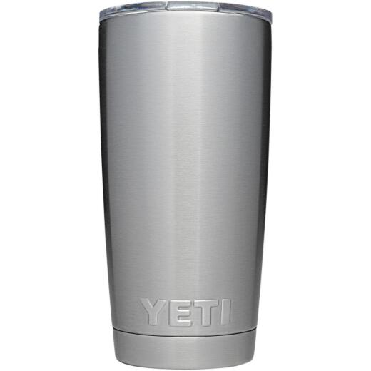 Yeti Rambler 20 Oz. Silver Stainless Steel Insulated Tumbler