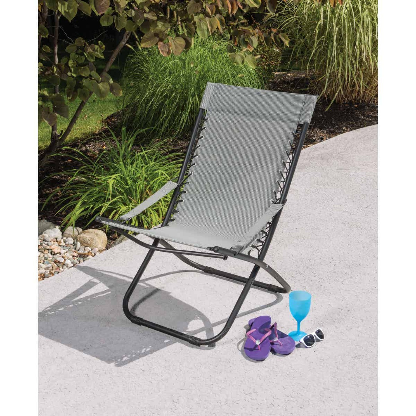 Outdoor Expressions Seville Gray Hammock Chair Image 3