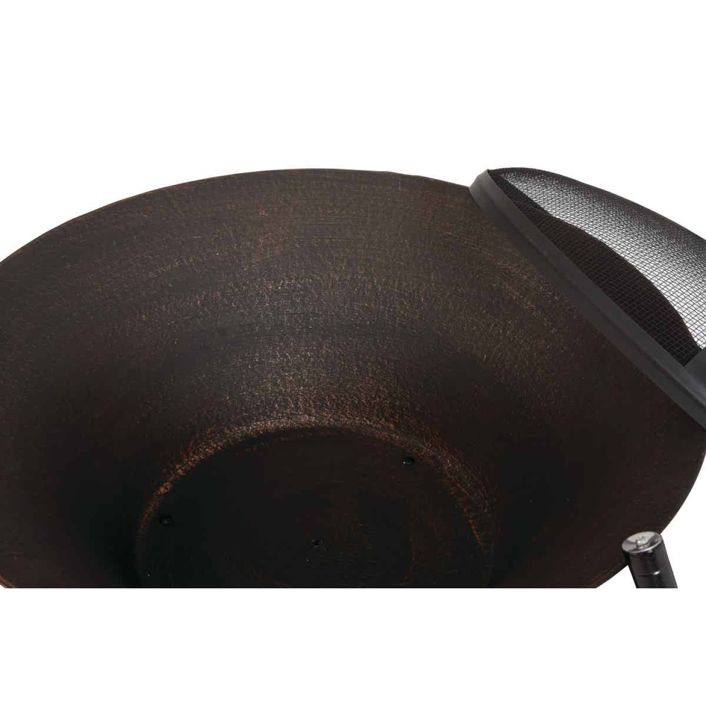 Outdoor Expressions 26 In. Antique Bronze Round Cast Iron Fire Pit Image 4