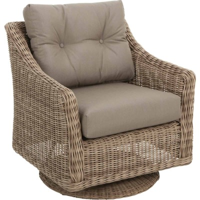 North Cape International Cambria Taupe Aluminum Brown Glider