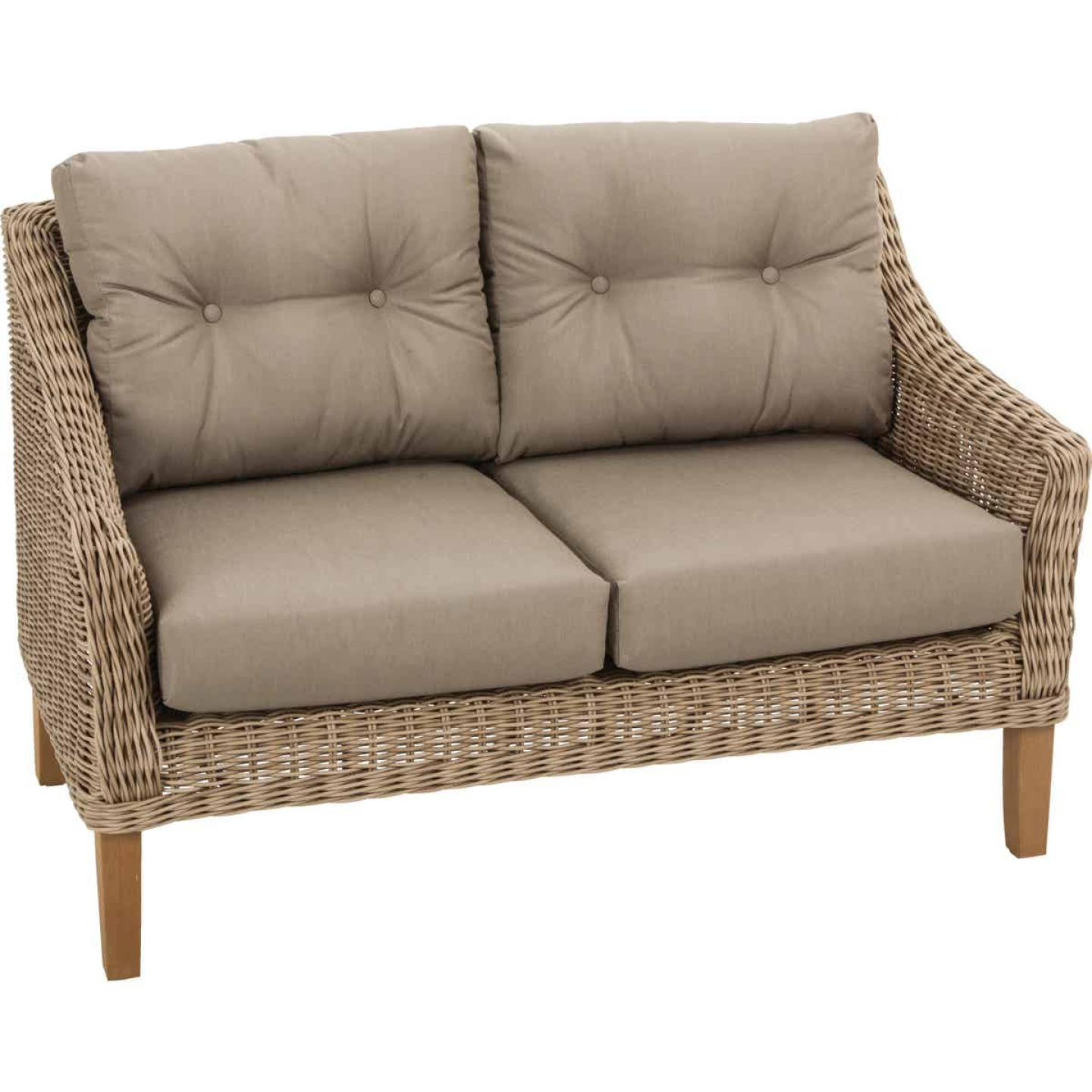 Cambria 2-Person 51 In. W. x 31 In. H. x 29 In. D. Wicker Loveseat Image 1