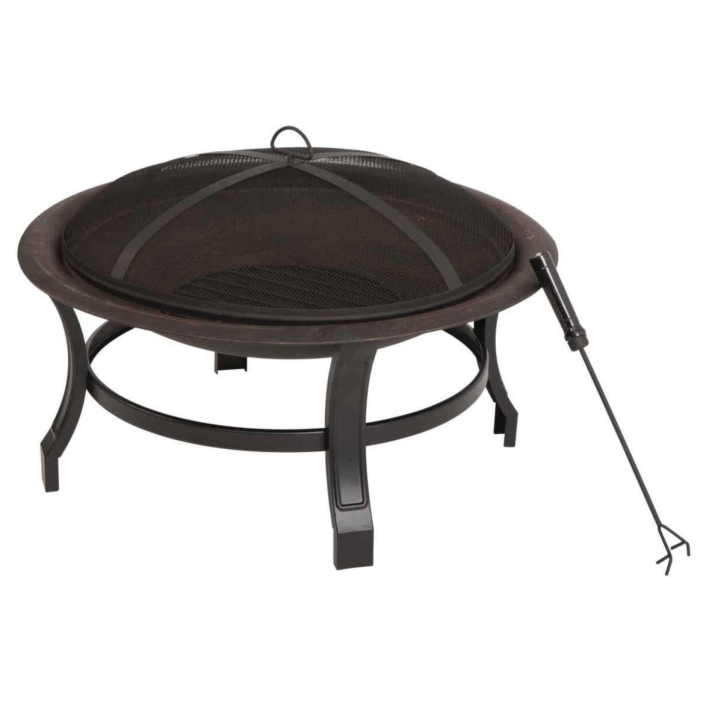 Outdoor Expressions 30 In. Antique Bronze Round Steel Fire Pit Image 1