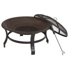 Outdoor Expressions 30 In. Antique Bronze Round Steel Fire Pit Image 3