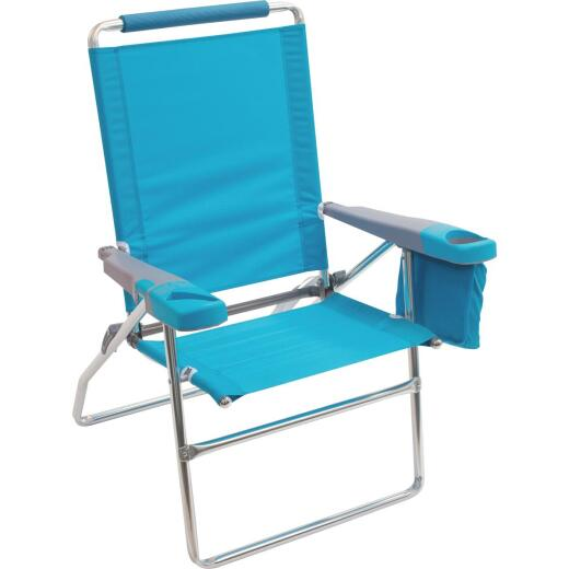Rio Brands 4-Position Aluminum Folding Beach Chair with Cooler