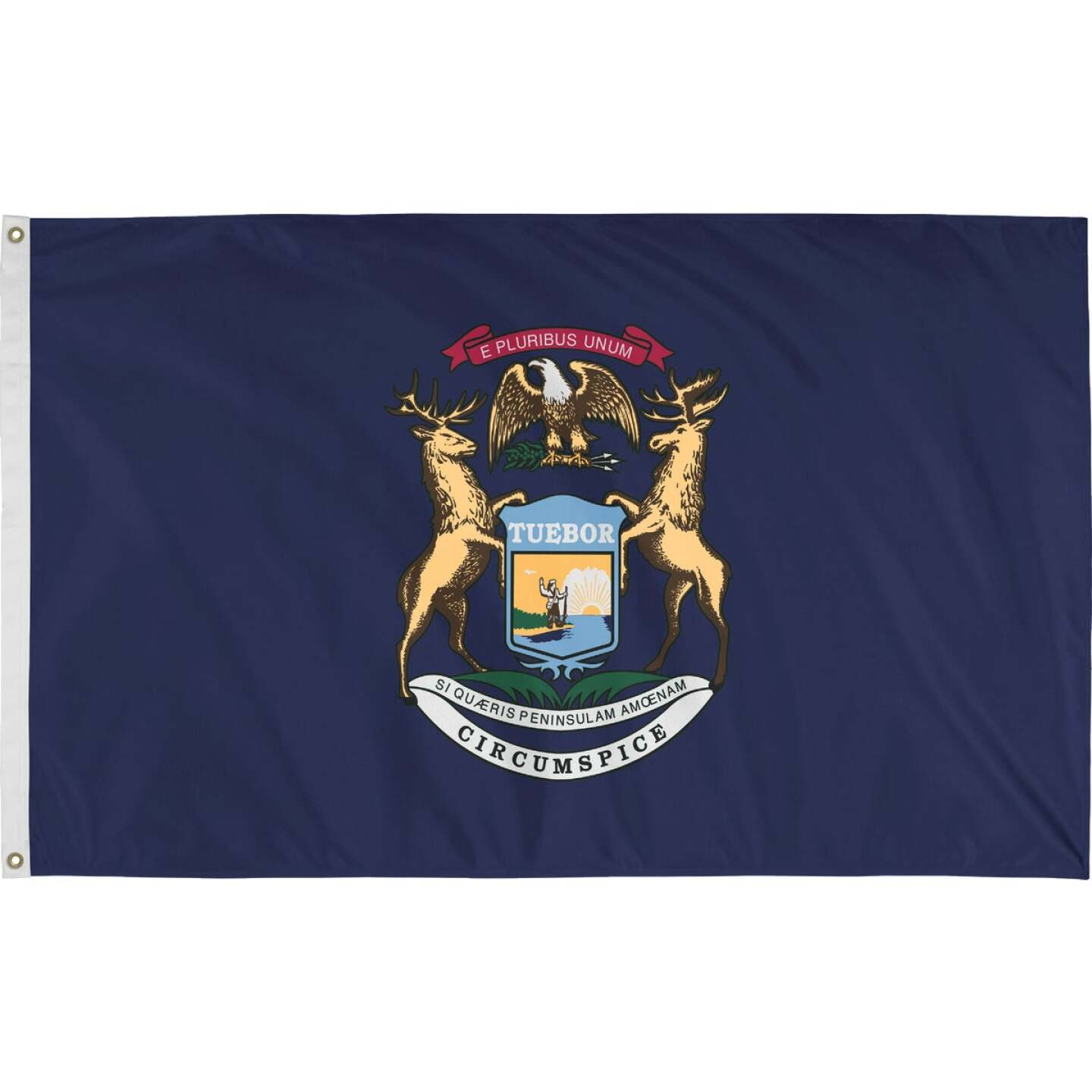 Valley Forge 3 Ft. x 5 Ft. Nylon Michigan State Flag Image 1