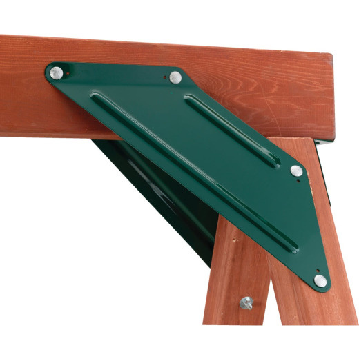 Swing N Slide EZ Frame Green Powder Coated Steel Side To Side Brace (2-Pack)