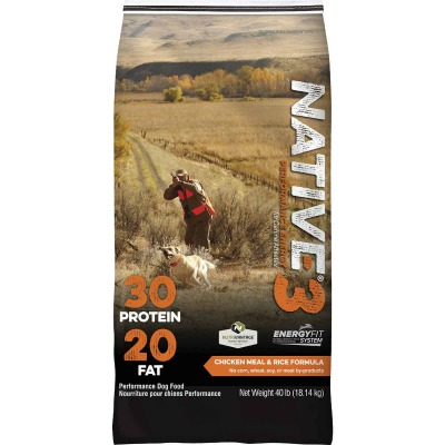 Kent Native Performance 40 Lb. Dry Dog Food, Energy Level 3