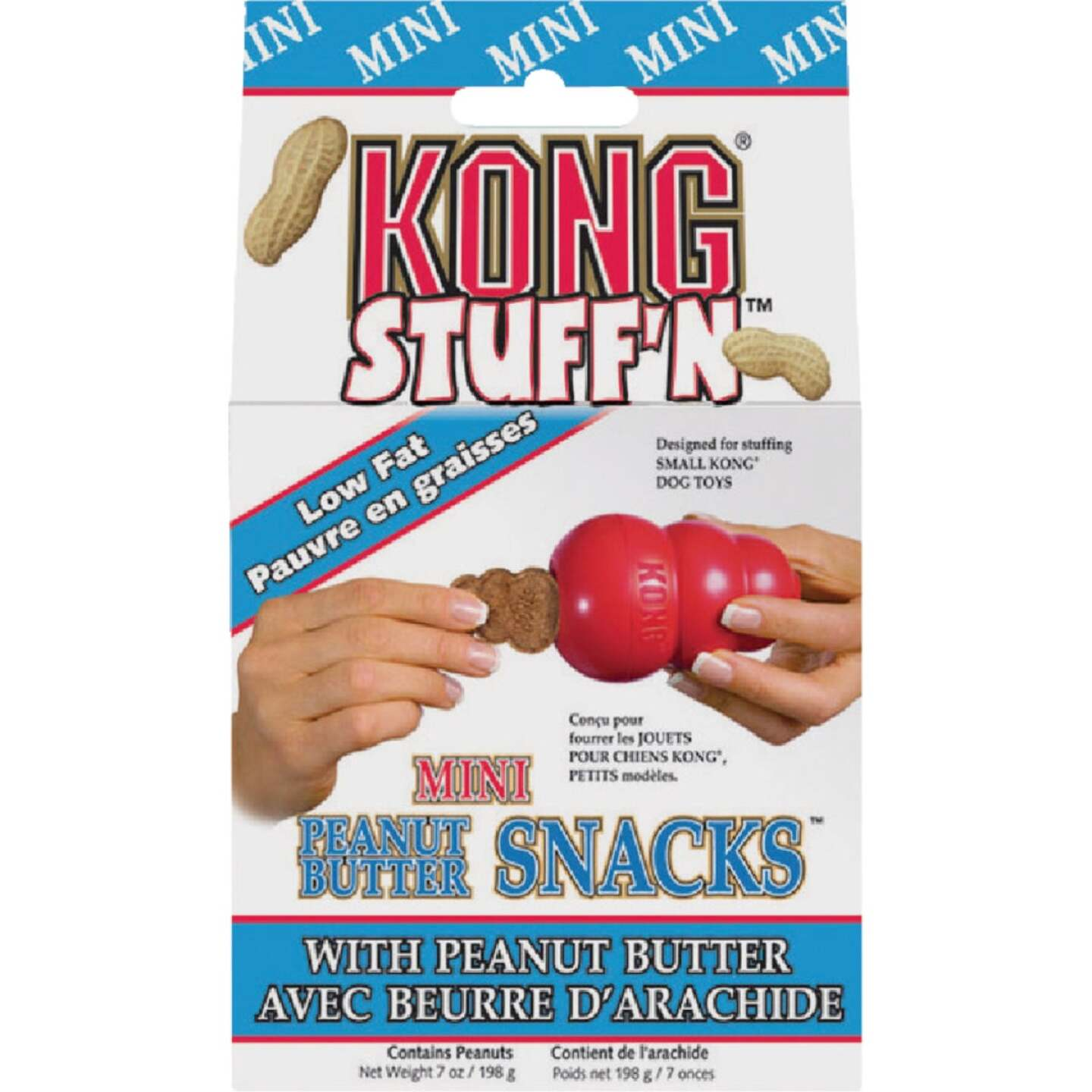 Kong Stuff'N Small Dog Peanut Butter Flavor Crunchy Dog Treat, 7 Oz. Image 1
