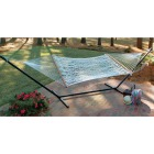 Castaway Deluxe Duracord White Poly Rope Hammock Image 3