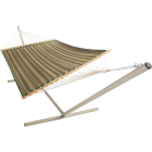 Castaway Duracord Tan Striped Quilted Hammock Image 1